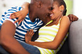 African couple flirting — Foto Stock
