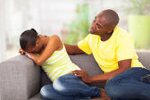 Young african couple having problems — Stock Photo