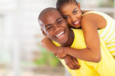 Playful young african couple — Stock Photo