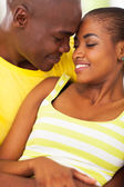 African couple in love — Stock Photo