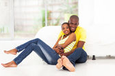 Romantic african american couple — Stock Photo