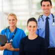 Stock Photo: Woman with health workers