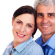 Lovely middle aged couple closeup - Stok fotoğraf
