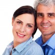 Lovely middle aged couple closeup - Stock Photo