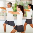 Stock Photo: Healthy family exercising