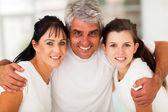 Actieve familie close-up — Stockfoto