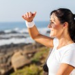 Fit mature woman looking into distance — Stock Photo