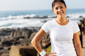 Fit middle aged woman portrait — Stock Photo