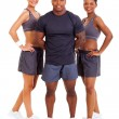 Stock Photo: Group of personal trainers