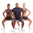 Group of sporty exercising — Stock Photo