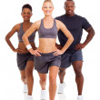 Group of exercising on white background — Stock Photo #25279425