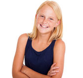Cute pre teen girl — Stock Photo