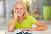 Cute preteen girl portrait at home — Stock Photo