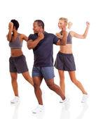 Groep van het doen van aerobics — Stockfoto
