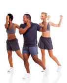 Group of doing aerobics — Stock Photo