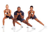Portrét mladé dospělé cvičení — Stock fotografie