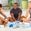 Group of relaxing after exercise — Stock Photo