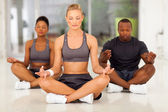 Group of young meditating — Stock Photo