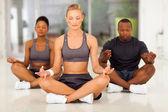 Group of young meditating — Foto de Stock