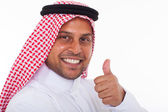 Arabic man giving thumb up — Stock Photo