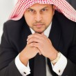 Stock Photo: Arabibusinessmin office