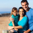 Happy family at the beach — Stock Photo #25513371