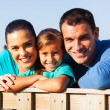Lovely family close up — Stock Photo