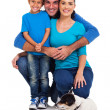 Young family with pet dog — Stock Photo #25516261