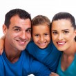 Happy family close up — Stock Photo