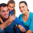 Couple with their little daughter — Stock Photo