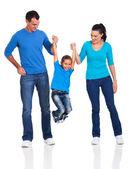 Familia feliz divirtiéndose — Foto de Stock