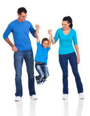 Happy family having fun — Foto de Stock
