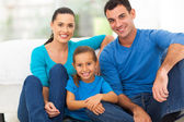 Lovely family at home — Stock Photo