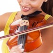 Young woman playing violin — Foto de Stock