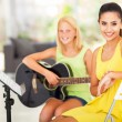 Music tutor and student — Stock Photo