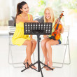Violin lesson — Foto Stock #26286313