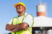 African male constructor — Stock Photo