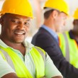 Stock Photo: Africindustrial engineer