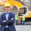 Mine manager with arms crossed — Stock Photo #26376621