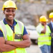 African industrial worker with arms folded — Stock Photo