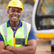 African american industrial worker — Stock Photo