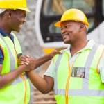 African mine workers brotherhood — Stock Photo #26379071