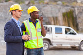 Mine manager and worker — Stock Photo