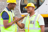 African mine workers brotherhood — Stock Photo