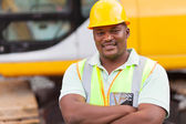 African mine worker with arms folded — Stock Photo