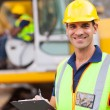 Road construction supervisor — Stock Photo