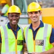 Road construction workers — Stock Photo