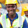 Stock Photo: Africamericconstruction worker