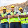 Stock Photo: Quarry workers standing with arms crossed