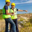 Surveyors at work — Stock Photo